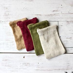Image of Burlap Drawstring Bags