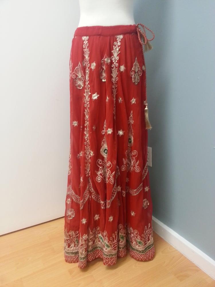 Image of Gilded Crimson Skirt