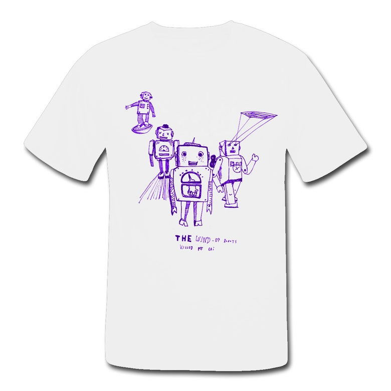 "Image of Shirt ""Violet Robots"""