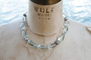 Image of Faceted Green Amethyst Necklace
