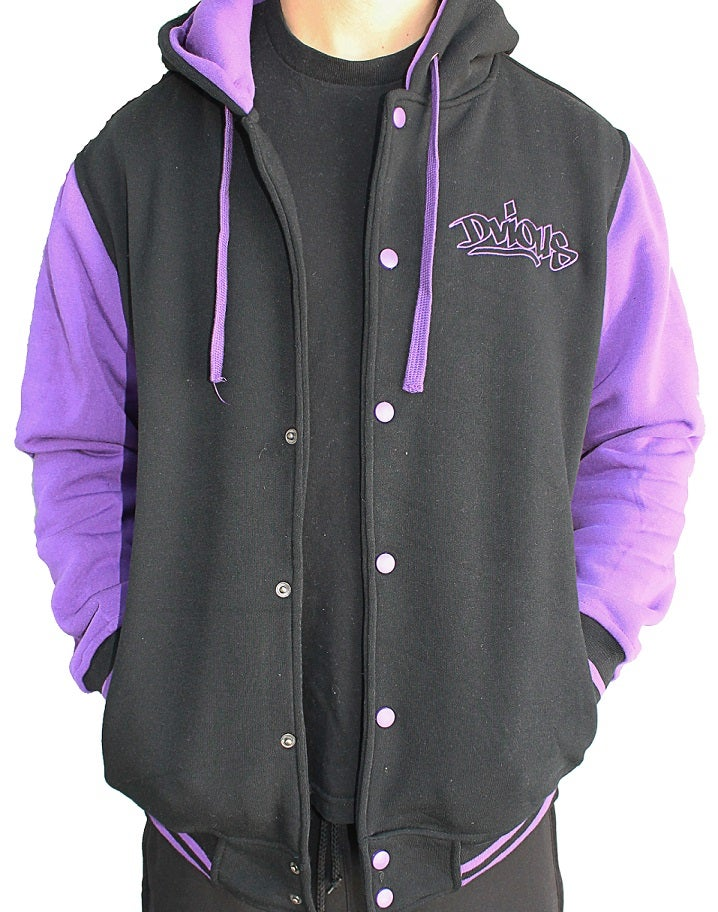 Image of PURPLE DVIOUS VARSITY HOODIE