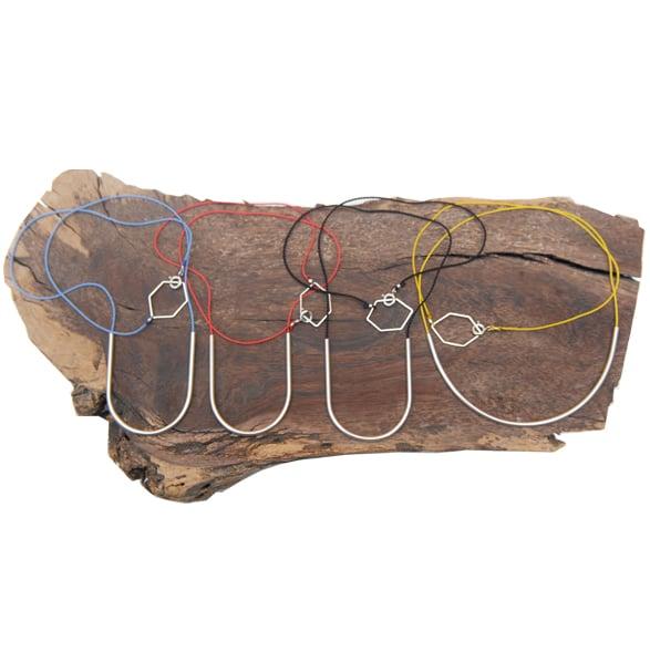 Image of Silk Horseshoe & Silk Arc Necklaces