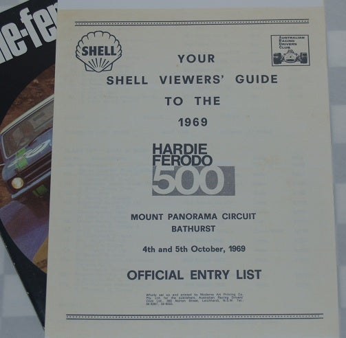 Image of 1969 HARDIE FERODO PROGRAMME - EXCELLENT CONDITION.