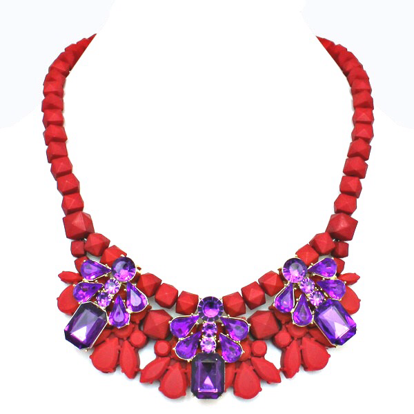 Image of Red Rage Statement Necklace