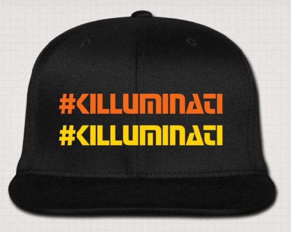Image of :: #KILLUMINATI :: Flat Brim Cap
