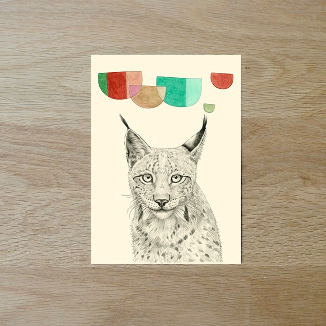 Image of Carte postale simple Lynx