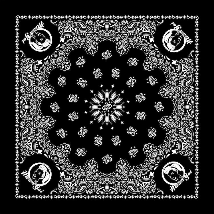 Image of MerchGal Paisley Bandana (black)