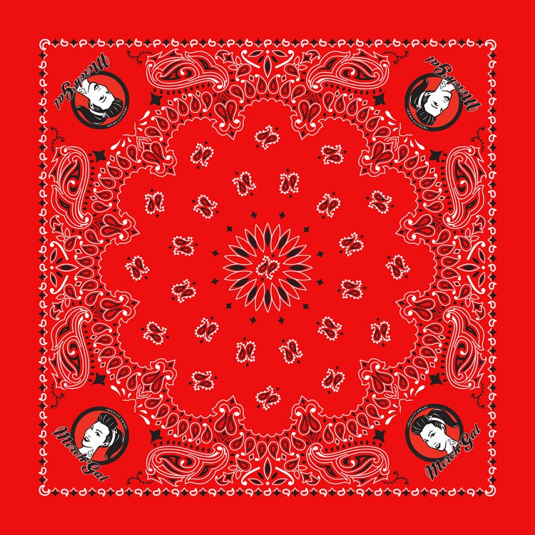 Image of MerchGal Paisley Bandana (red)