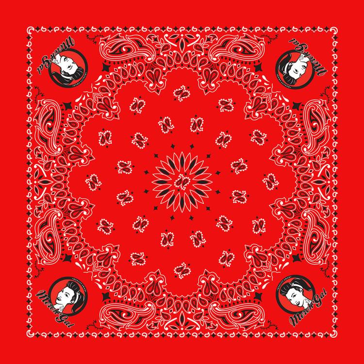 Image of MerchGal Paisley Bandana (red)