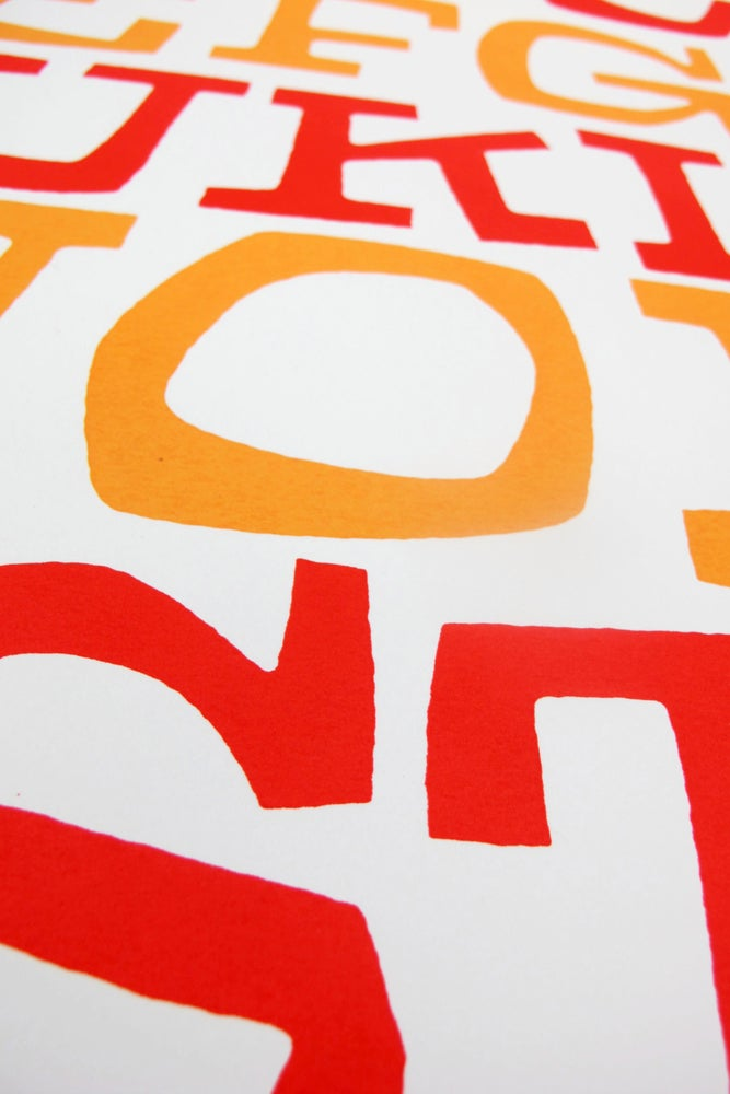 Image of Red & Orange Alphabet