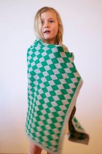 Image of Harlequin Blanket Green Grey