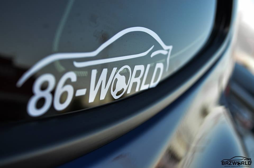 Image of 86 WORLD Decal