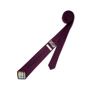 Image of Eggplant Linen Necktie