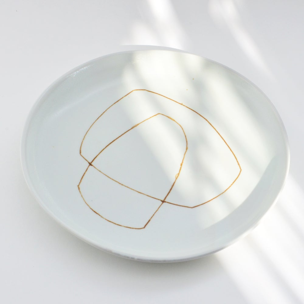 Image of porcelain dinner plate - MADE TO ORDER