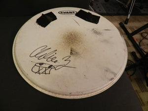 Image of Charlie Zeleny Signed Used Drumhead