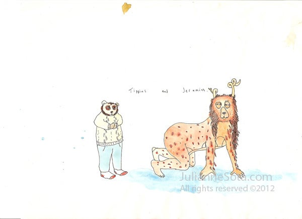 """Image of """"Tippins and Jeremiah"""" - Greeting card"""