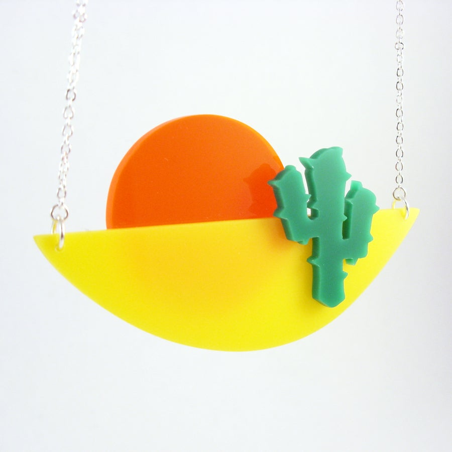 Image of Cactus Sunset necklace
