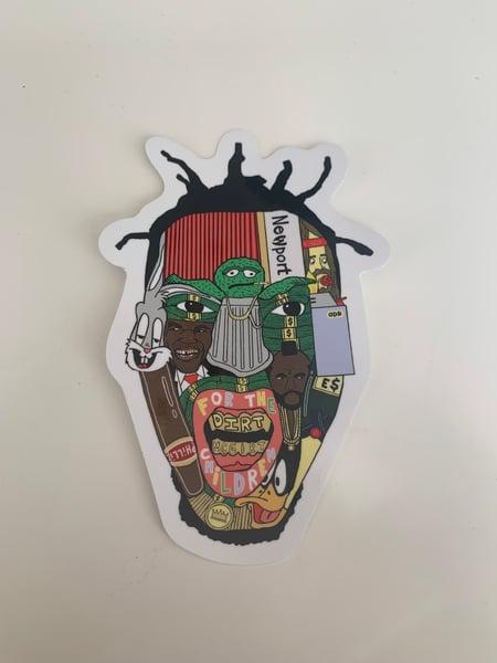 Image of big baby jE$us sticker