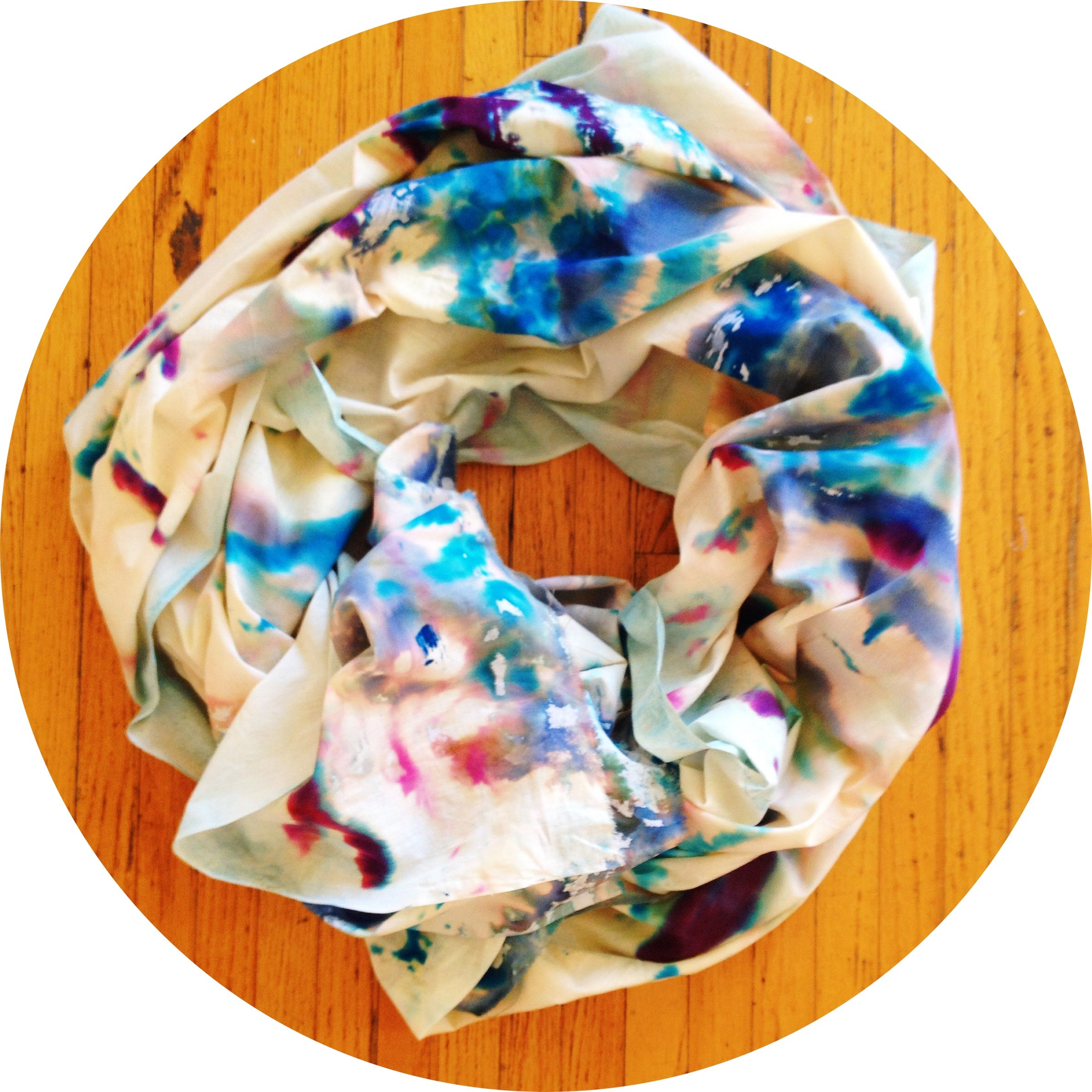 Emily Wagner Hand Painted Quot View From Up Here Quot Cotton Wrap