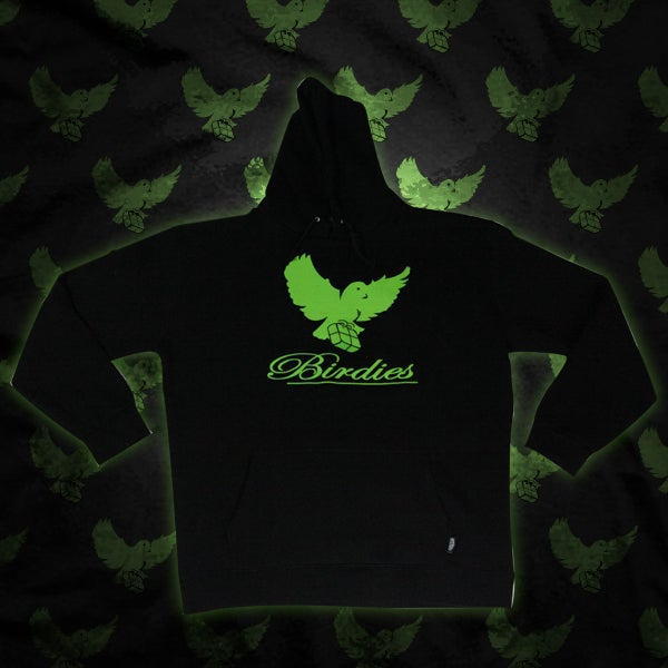 Image of Black/SlimeGreen Birdies Hoodie