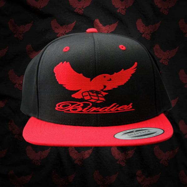 Image of Black/Red Birdies Snapback