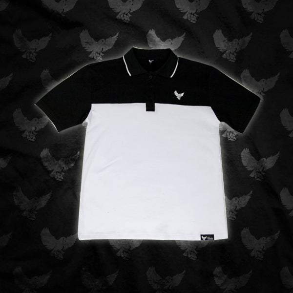 Image of White/Black Birdies Polo