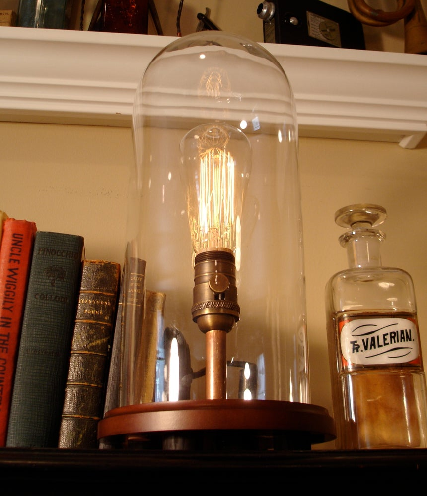 Image of Glass Dome Edison Lamp