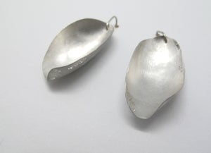Image of silver pod earrings