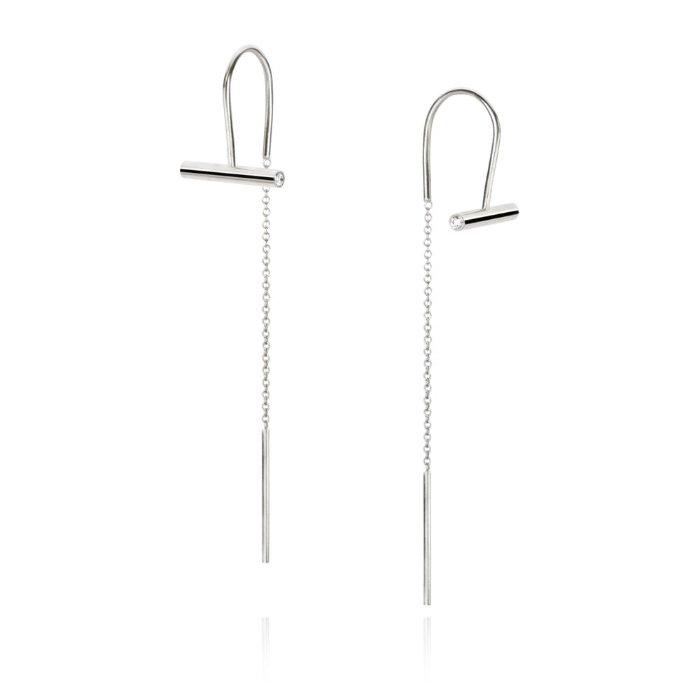 Image of Earrings in silver