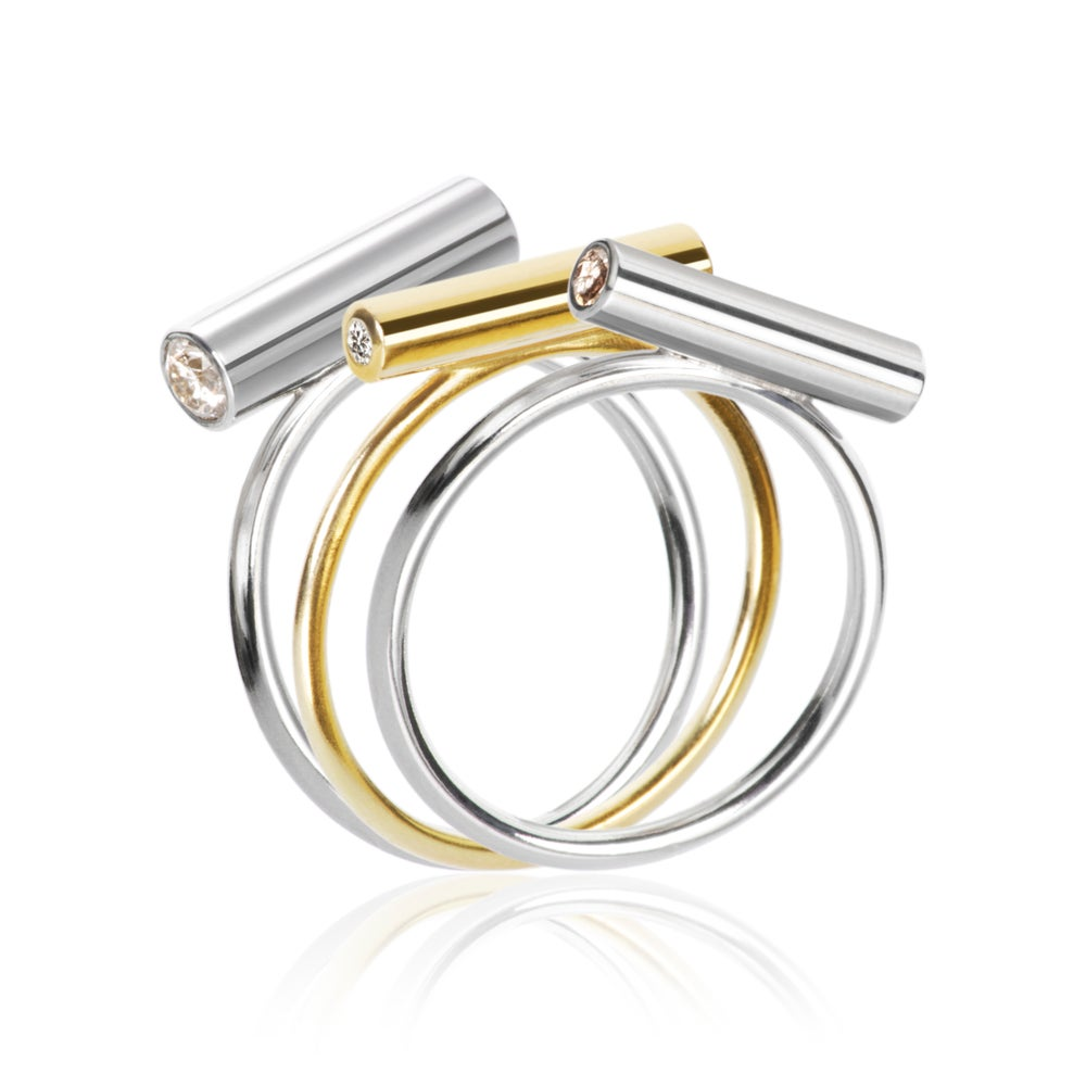 Image of Pin Ring Silver Small