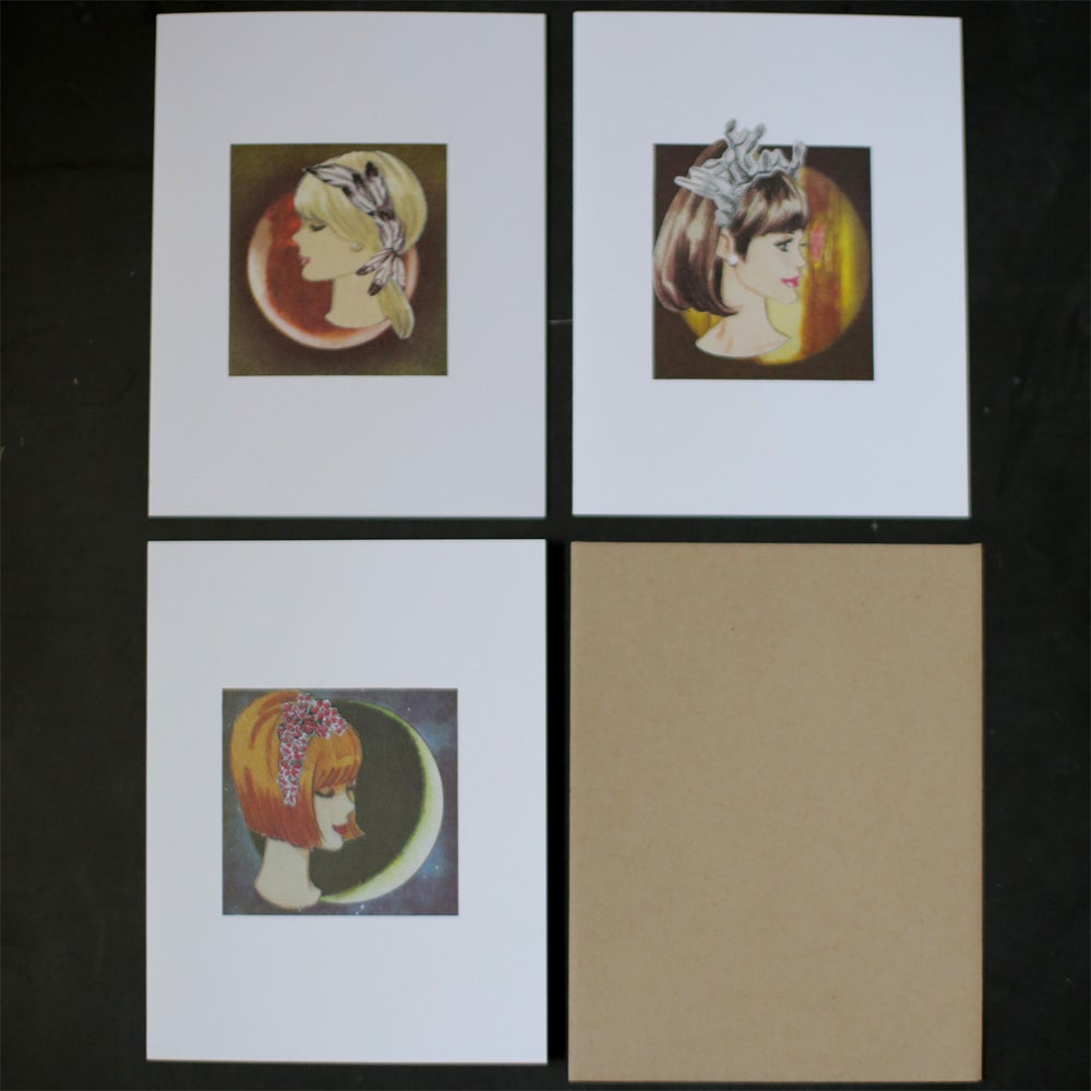 Image of Cosmic Ladies Cards - set of 3