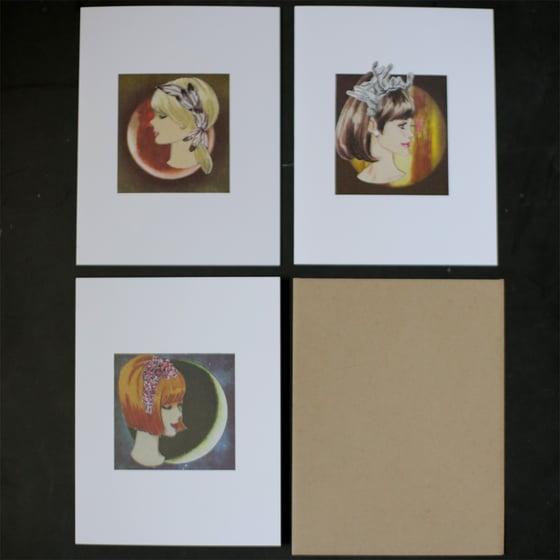 Image of Cosmic Ladies Cards - set of 3