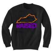Image of KY Raised Crewneck Sweatshirt in Black / Orange / Purple (Discontinued Style)