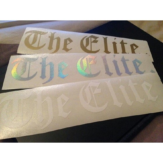 Image of The Elite 8''x2'' Vinyl Decal