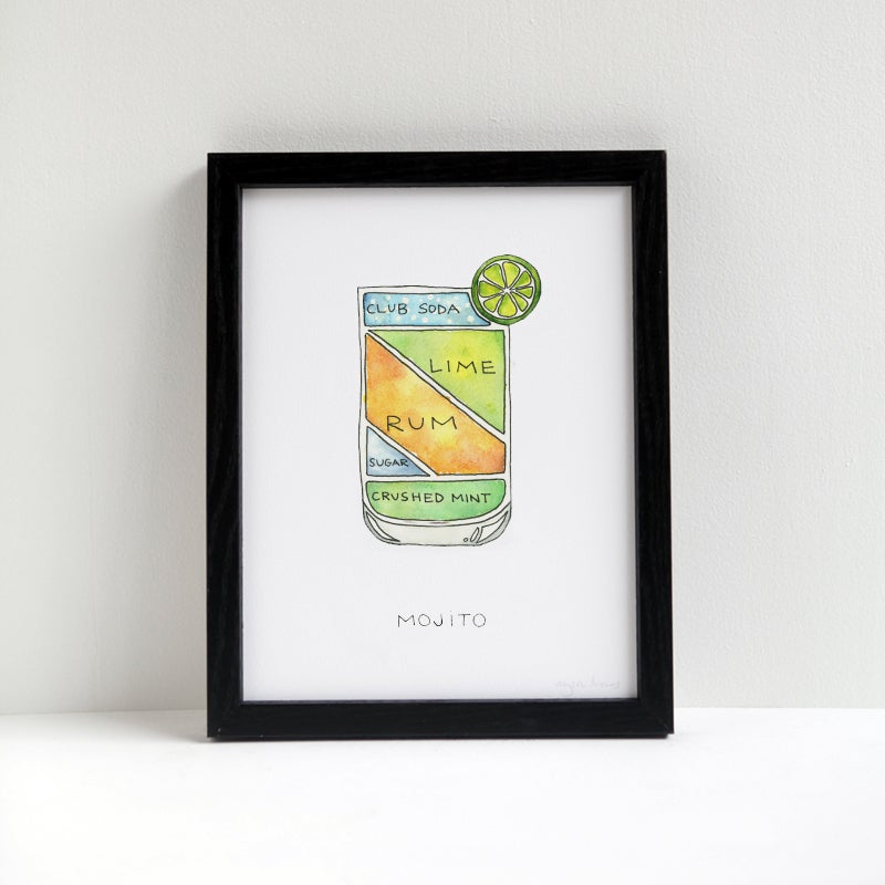 Image of Mojito Cocktail Print