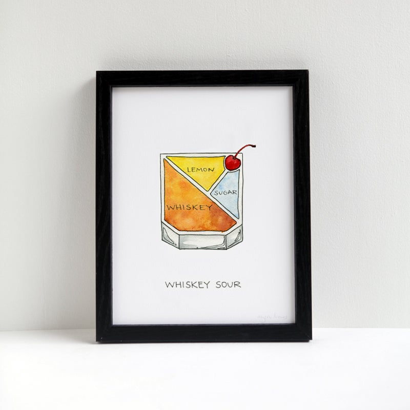 Image of Whiskey Sour Cocktail Print