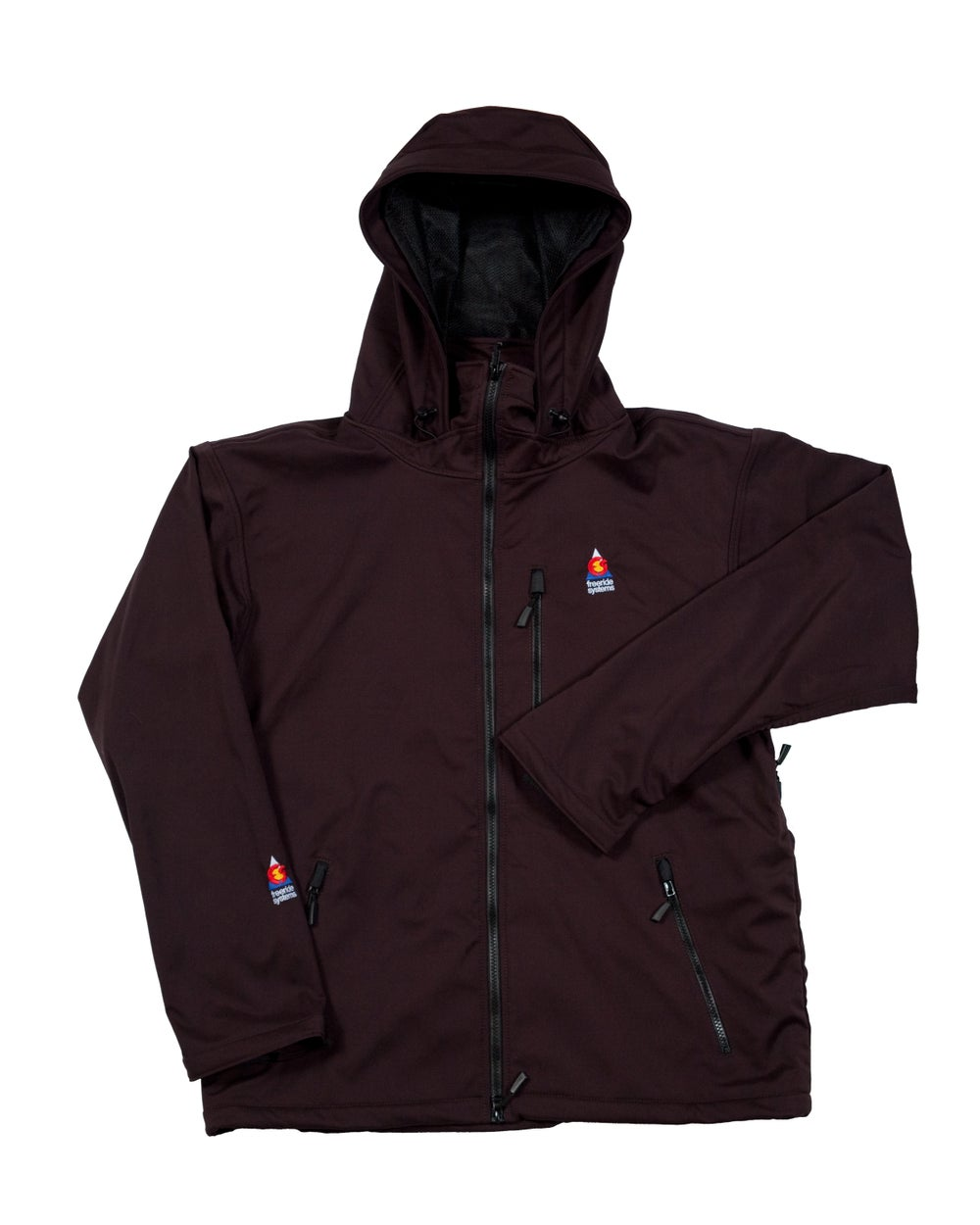 Image of Antero II Gore Black Cherry Hybrid Softshell Jacket Made in Colorado
