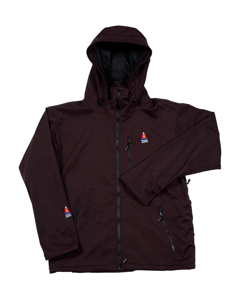 Image of Antero II Gore Black Cherry Hybrid Softshell Jacket Made in Colorado