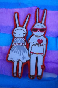 Image of Fashionista Lovers in Love Felted Brooch