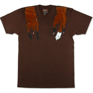Image of FAUX FOXY - men's brown t-shirt