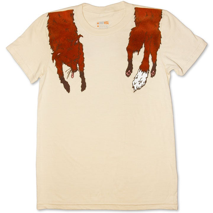Image of FAUX FOXY - women's créme t-shirt