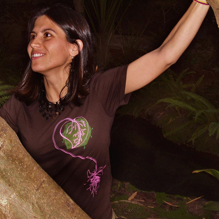 Image of I ♥ NATURE - women's brown t-shirt