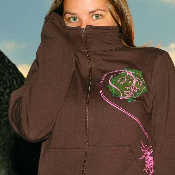 Image of I ♥ NATURE - women's brown jogger jacket