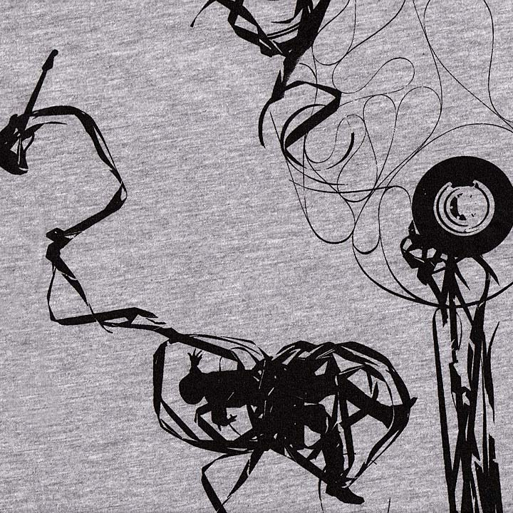 Image of ANALOG TAPE - men's heather ringer by Ironclaw
