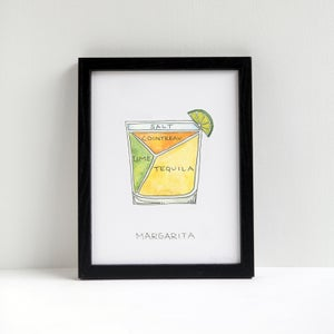 Margarita Cocktail Print by Alyson Thomas of Drywell Art. Available at shop.drywellart.com