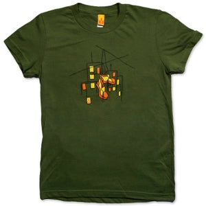 Image of HUNG SHOES - women's olive t-shirt