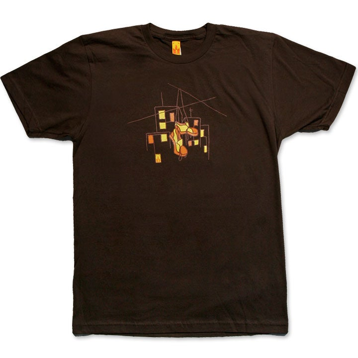 Image of HUNG SHOES - men's brown t-shirt