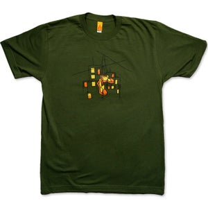 Image of HUNG SHOES - men's olive t-shirt