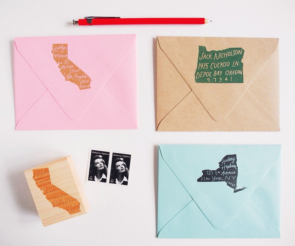 Image of The Original Home State Personalized Return Address Stamp