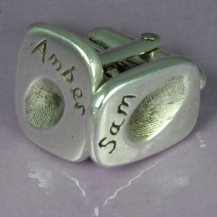 Image of Fingerprint cuff links